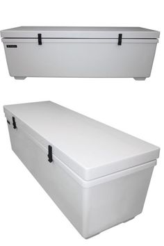 Cool storage/cooler combo to save on houseboat space!