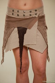 Short Tribal Wrap Skirt - Festival Outfit - Pixie Skirt - burning man outfit - boom festival - women's clothing