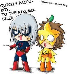 Rikuman and Paopu Boy **falls down laughing** so cute