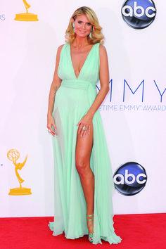 Vestido verde mint -Heidi Klum el color de la temporda sin duda alguna llego para quedarse!