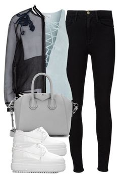 """Untitled #4241"" by maddie1128 ❤ liked on Polyvore featuring Frame Denim, Topshop, 3.1 Phillip Lim and Givenchy"