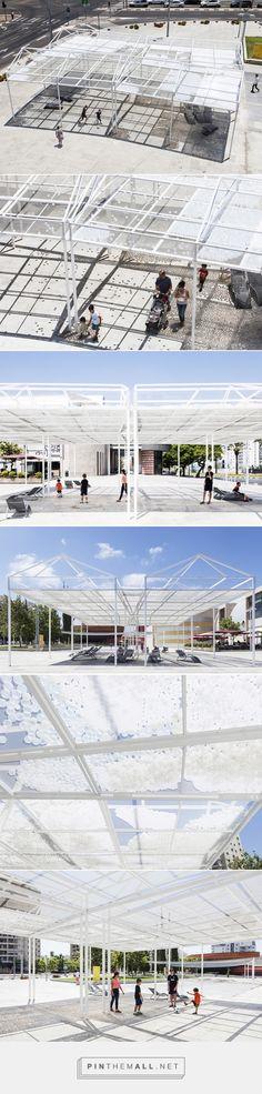 cloud seeding pavilion explores sun v shade relationship - created via http://pinthemall.net