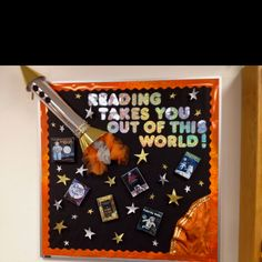 My reading bulletin board