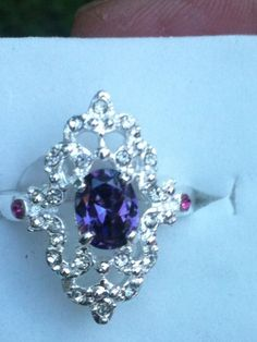 'Fabulous Purple Tanzanite & White Topaz Size 8 ' is going up for auction at  7pm Fri, Sep 14 with a starting bid of $5.