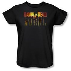 Women's DAWN OF THE DEAD Short Sleeve WALKING DEAD X Large T-Shirt Tee