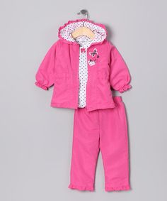 Take a look at this Pink Jacket Set - Infant & Toddler by Young Hearts on #zulily today!