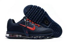 uk availability 797cc bd354 Cheap Wholesale Nike Air Max 2017 Mens Rubber Patch Navy Blue Red Michael  Jordan Shoes,