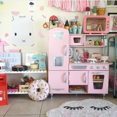 """110 Likes, 4 Comments - WONDERMADE Fabric Wall Decals (@wondermade_fabric_wall_decals) on Instagram: """"This kitchen makes me hungry.  Our """"miffy"""" looks cute in this space. Thank you for sharing…"""""""