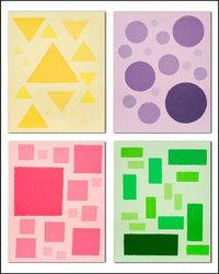 Colorful Concepts - Educational art!  Diversity in Art. Different shapes, colors, and sizes ... oh my!
