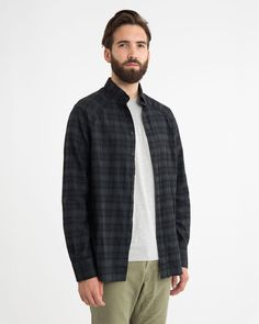 Overdyed Flannel Shirt | Wings + Horns