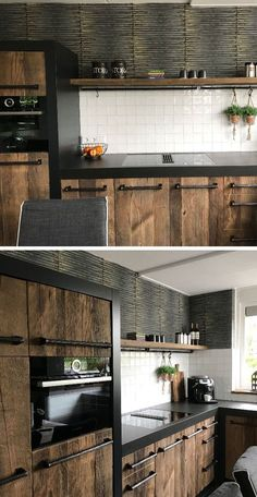 Things That You Need To Know When It Comes To Industrial Decorating You can use home interior design in your home. Industrial Kitchen Design, Kitchen Room Design, Kitchen Cabinet Design, Modern Kitchen Design, Home Decor Kitchen, Interior Design Kitchen, Kitchen Furniture, Home Kitchens, Kitchen Trends