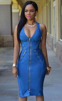 $149.99 Gold Zipper Luxe Bandage Dress