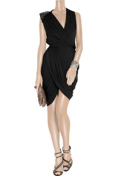 Rachel Gilbert Gini embellished stretch-jersey dress