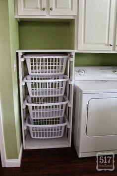 Stacked laundry basket