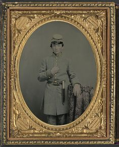 [Unidentified young soldier in Confederate uniform with Bowie knife] (LOC)