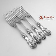 Quirinale Dinner Forks Sterling Silver Cesa 1882 1950