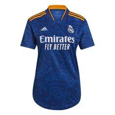 adidas Women's Real Madrid 2021/22 Away Jersey Victory Blue/Yellow - XS