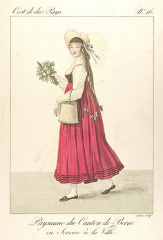 Paysanne de Canton de Berne en Service à la Ville. (No. 16) by Hopkins Rare Books, Manuscripts, & Archives, via Flickr