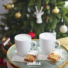 Holidays are made for curling up with a cup of Lavazza.   @lavazzausa    [Promotional Pin]