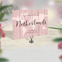 Travel Theme Wedding Table Names