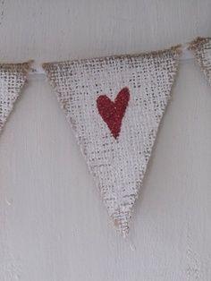Primitive Valentine Crafts   Primitive Valentines Love Letter With Hearts Shelf Sitter