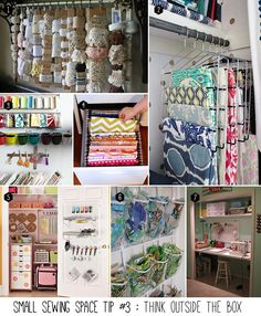 Small sewing space tip $4 of 5 : Think outside the box