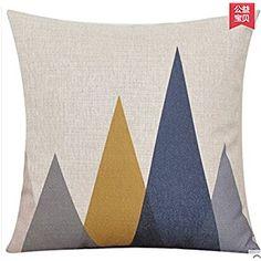 Amazon.com: Elephant Deer Mountains Cotton Linen Throw Pillow Case Cushion Cover Home Sofa Decorative 18 X 18 Inch (5) (5): Home & Kitchen