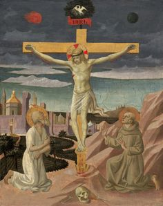 Pesellino - The Crucifixion with Saint Jerome and Saint Francis