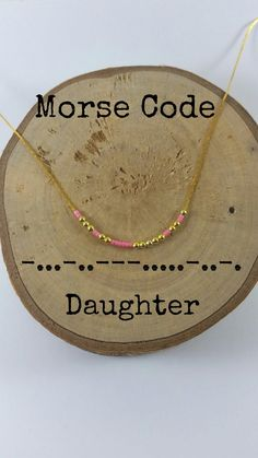 DAUGHTER Morse Code Necklaces Secret Message by KukanaJewelry