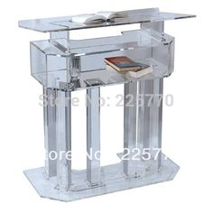 1300.00$  Buy here - http://ali0rx.worldwells.pw/go.php?t=32670230956 - Crystal Clear Transparent Lectern Acrylic School Lectern Podium Office Furniture Podium