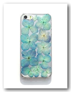 Handmade IPHONE 5/5S case, Resin with Real flower, Hydrangea phone case #02 - Cases, Covers & Skins