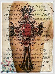 tattoo crossprayer old papper religion wall art by WOLFSTOILKOVIC