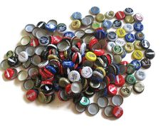 Bottle Caps Lot Crafts SuppliesMixed Media by MosaicMargalita, $8.50