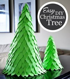como hacer un arbol de navidad casero