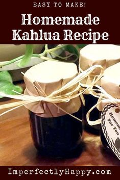Fast and Easy to Make Homemade Kahlua Recipe. This Coffee Liqueur make a wonderful gift!