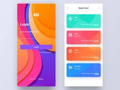 Bankcard designed by Erran for Face UI. Connect with them on Dribbble; Interaktives Design, Flat Web Design, App Ui Design, User Interface Design, Site Design, Android App Design, Android Ui, Ui Design Mobile, Template Web