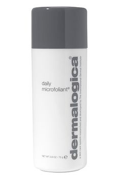 Dermalogica Daily Microfoliant. Regular exfoliation is essential to glowing skin, and this gentle scrub is one of the best ways to do it (without overdoing it). It's a simple rice powder—just mix it with a few drops of water in the palm of your hand, rub it gently over your face, rinse, then marvel at your silky skin.