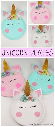 Get smaller plates. Paint, put horn, ears, and face on plates.  Have the girls decorate with flowers and such during the slumber party