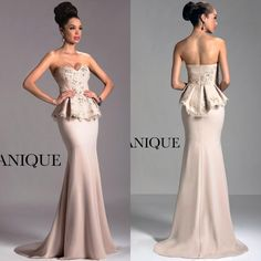 Janique Designer Cheap Long Formal Evening Dresses Elegant Sweetheart Mermaid Dress Sweep Train With… Mother Of Bride Outfits, Mother Of Groom Dresses, Bride Groom Dress, Mothers Dresses, Bride Dresses, Peplum Dresses, Wedding Dresses, Party Dresses, Lace Dress