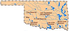 Oklahoma has more man-made lakes than any other state!