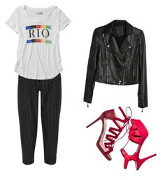 """""""NJ😌"""" by lady-shadylady ❤ liked on Polyvore featuring Jimmy Choo, Yves Saint Laurent, DKNY, Abercrombie & Fitch and Paige Denim"""