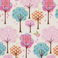 Dena Fishbein - Pretty Little Things - Trees in Cream- might go well with Alexander Henry's once upon a time