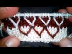 Knitting Pattern / Stitch Design # 5 - Hindi - बुनाई डिजाइन - YouTube