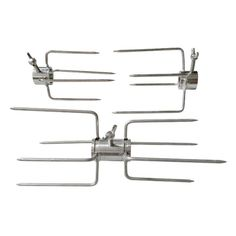 Specialist advice and fast delivery on the Rotisserie Prong Kit for Cooking 2 Chickens - 22mm Round BBQ Spit Rotisseries The Outdoor Cooking Specialists