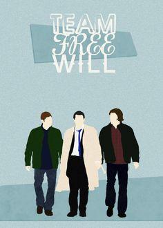 Team Free Will Supernatural Wallpaper Supernatural Fan Art Supernatural Fans