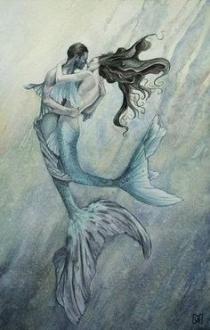 Diary of a Landlocked Mermaid Mermaid Artwork, Mermaid Drawings, Mermaid Tattoos, Mermaid Paintings, Fantasy Mermaids, Real Mermaids, Mermaids And Mermen, Mermaid In Love, Mermaid Tale
