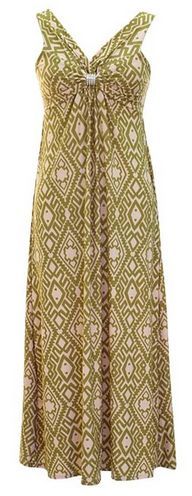 great for hot summer days. Damask & Print Summer Sleeveless Maxi Dress - A Thrifty Mom