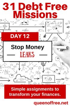 Do you know where you might be leaking money? Check out this debt free mission before it becomes out of control!