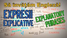 Sa invatam engleza - EXPRESII EXPLICATIVE / EXPLANATORY PHRASES - Let's ... English Lessons, Learn English, Sentences, Food To Make, Acting, Let It Be, Learning, Words, Youtube