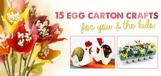 Try #reuse crafts with egg cartons and talk with kids about the importance of #recycling | mollymoo.ie - 15 egg carton crafts